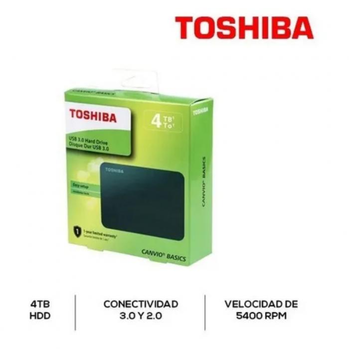 """D.D. EXTERNO 4 TB. 2,5"""" TOSHIBA USB 3,0"""